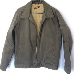 Billabong brown twill jacket quilted inside size M